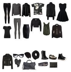 Casual Chic Goth Capsule by misshoneybare on Polyvore featuring polyvore, fashion, style, Chicwish, Witchery, Glamour Kills, Comme des Garçons, NLY Trend, Joseph, River Island, Ted Baker, 7 For All Mankind, Alaïa, Dr. Martens, Ash, Surface To Air, Balenciaga, French Connection, J.Crew, Marni, Cash Ca and clothing