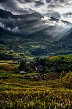 Sunrise in Sapa, Vietnam