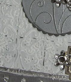 Mel Stampz: Faux Tin Tile Tutorial (with aluminum foil, a Cuttlebug & a Scor-pal)