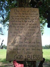 Tree Of Soles - Ossun, Louisiana.