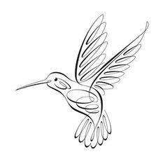 Realistic Hummingbird Drawing (4)