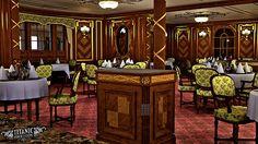 A render of Titanic's First Class a la carte Restaurant.