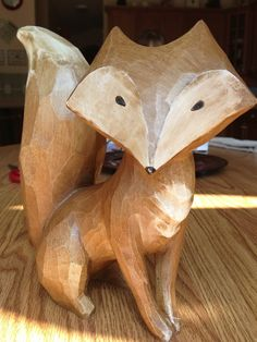Carved wooden fox                                                                                                                                                      More