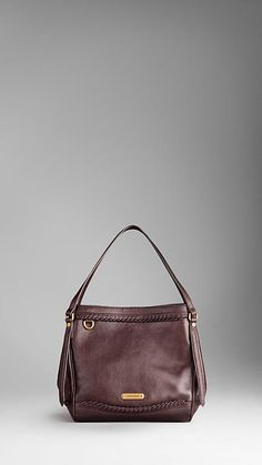 Burberry - SMALL WOVEN LEATHER TOTE BAG