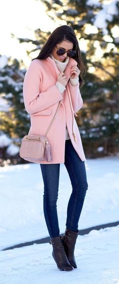 #winter #fashion / pink