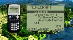 Math Whiz Recreates Minecraft Gameplay On His Graphing Calculator #technology