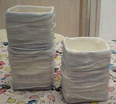 Design vaas van een melkpak. Leuk cadeau