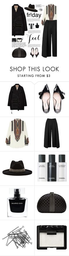 """""""Untitled #2329"""" by amimcqueen ❤ liked on Polyvore featuring N°21, Miu Miu, Etro, Keepsake the Label, Gladys Tamez Millinery, Narciso Rodriguez, Ted Baker, H&M, NARS Cosmetics and Koh Gen Do"""
