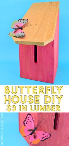 Your E-Organization - Employ An Accountant Or Do It Yourself Grab A Cedar Picket To Make A Lovely And Simple Diy Butterfly House. This Budget-Friendly Project Works Out To Only 3 In Lumber Apiece Diy Butterfly, Butterfly House, Butterfly Feeder, Clever Diy, Easy Diy, Simple Diy, Wood Crafts, Diy Crafts, Small Apartment Decorating