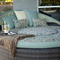 I want to take a nap on this!!!    Rendezvous All-Weather Wicker Reversible Cushion Sectional Daybed
