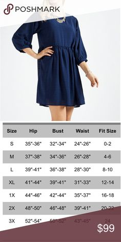 Coming soon Navy chiffon dress Coming soon navy chiffon dress. Price will change when item becomes available for purchase. boutique Dresses Long Sleeve
