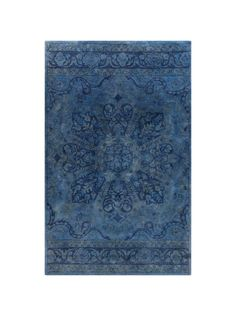 The pretty little feminine motif strikes just the right tone on this exquisite over-dyed Haeli rug. We love the gorgeous, old world style.