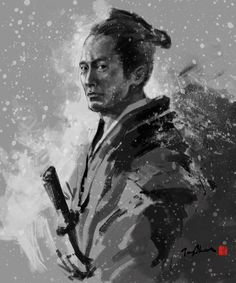 JUNGSHAN INK- illustration: Samurai series