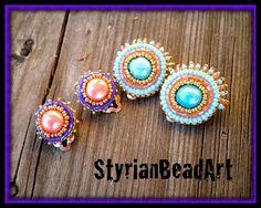 """StyrianBeadArt: Ohrclips """"Zuckermaus"""""""