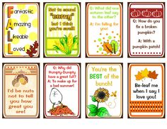 Lunch Box Notes Free for Autumn Fall