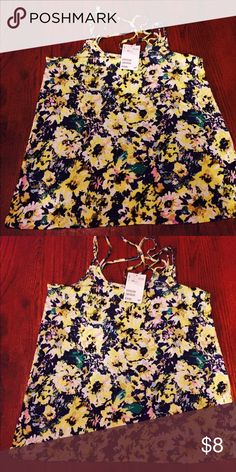 Floral tank Nwt, perfect blend of colors make this floral tank pop. H&M Tops Tank Tops