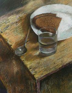 Water and bread (2016) Pastel drawing by Silja Salmistu | Artfinder
