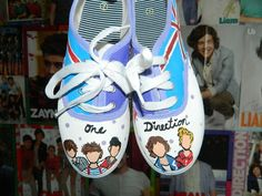 One Direction shoes One Direction Shoes, One Direction Fashion, Cute Shoes, Me Too Shoes, Awesome Shoes, Dream Shoes, Adidas Stan Smith, Harry Styles, My Style