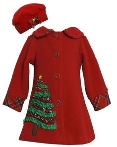 Bonnie Jean Girls Christmas Tree Fleece Coat & Hat Set, Red, 6 by Bonnie JeanTake for me to see Bonnie Jean Girls Christm