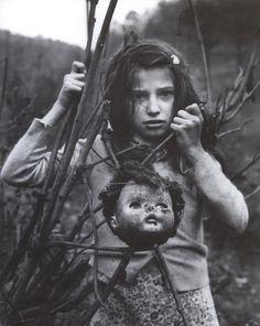 Arthur Tress - Girl with Doll Head, West Virginia, 1968