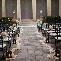 Romantic Outdoor Ceremony Decor // Archetype Photography // http://www.theknot.com/weddings/album/a-glamorous-wedding-in-houston-tx-140099