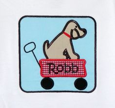 Lab In Wagon Applique Machine Embroidery by trendystitchdesigns