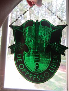 SPECIAL FORCES crest stained glass