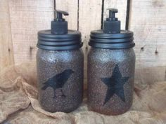 crow and star soap jars
