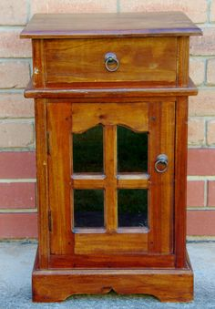 Art Deco 1930s small solid wood side or by LizzysVintageGems
