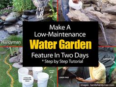 Make A Low-Maintenance Garden Water Feature In Two Days