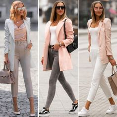 𝕡𝕠𝕡 𝕠𝕗 𝕤𝕡𝕣𝕚𝕟𝕘💕 1,2 or 3? Which #pasteloutfit you like the most?🌸 . #pink #pastelpink #powderpink #blush #streetstyle #streetwear #streetfashion #ootd #outfit #outfitoftheday #pastelfashion #blazer #coat #spring #springoutfit #springishere #springtime #vans #nike #sneakers #zarablazer #longbob #longblondehair #mesiszigeti Zara Blazer, Pastel Outfit, Pastel Fashion, Powder Pink, Long Bob, Pastel Pink, Capri Pants, Spring Outfits, Outfit Of The Day