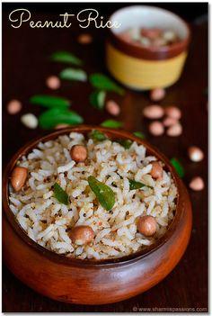 Peanut Rice - Kadalai Sadam Recipe | Easy Lunch Box Recipes | Sharmis Passions
