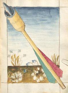 Bellifortis VerfasserKyeser, Conradus  ErschienenElsaß, [um 1460] Ms. germ. qu. 15  Folio 104r