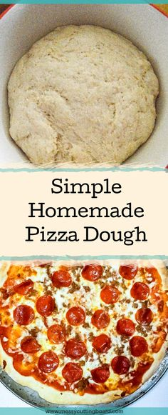 Easy Pizza Dough is the perfect thing for a family fun night. It is made in advance making it easy to focus on what is really important, creating messy fun memories! Simple Recipes | Lunch Recipes | Dinner Recipes | Sunday Dinner | Weeknight Meals | Appetizers | messy cutting board recipe | Meal prep | Easy Prep recipe | Pizza dough | Pizza | kid recipe | Pizza Friday