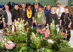 Internationale Lehrerpersönlichkeiten der Floristik mit Gregor Lersch zu Gast beim FDF auf der IPM Essen.