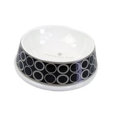Hartman  Rose Porcelain Dog Bowl Black Patterned >>> You can get more details by clicking on the image.