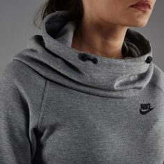 Nike Grey Tech Fleece Funnel Neck Hoodie •The Nike Tech Fleece Women's Hoodie features thumbholes at the cuffs and incredibly soft thermal fabric to help keep you warm and comfortable in cooler conditions. Lightweight and super soft.  •Size X-Small, true to size.  •New with tag.   •NO TRADES/PAYPAL/MERC/VINTED/NONSENSE.  •PLEASE USE OFFER FEATURE IF YOU WANT TO NEGOTIATE PRICE. Nike Tops Sweatshirts & Hoodies