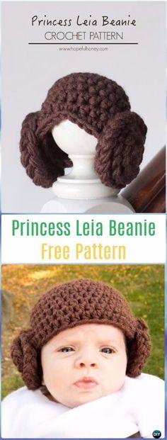 Crochet Princess Leia Beanie Hat Free Pattern - Crochet Halloween Hat Free Patterns