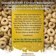 Tell General Mills and Cheerios to remove GMOs from their products! Post a GMO comment on their wall here: http://www.facebook.com/cheerios
