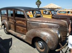 All original Ford Woodie at Doheny Show