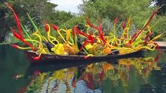 Chihuly at the Dallas Arboretum.......