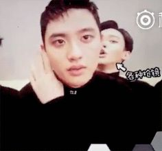 D.O's lips are quite fantastic... And then there is Chen in his natural habitat!