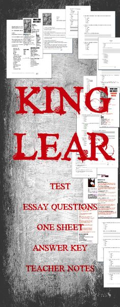 Teaching King Lear next year? This unit combines my three King Lear units at a discounted price. $