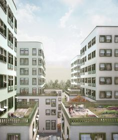 """Exterior visual - competition """"The Geistlich Area"""" by Schwarz Architects Competition, Multi Story Building, Exterior, Mansions, Architecture, House Styles, Home Decor, New Construction, Projects"""
