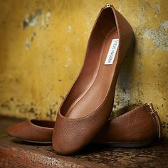 cognac flats made-for-me
