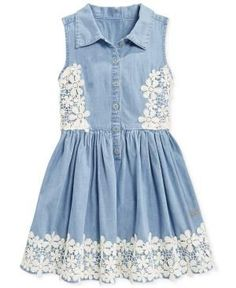 42b0461ce The Top 10 Back to School Jeans Trends for Kids and Teens. Guess GirlJeans  DressChambray DressGirls Denim DressDresses For KidsLittle ...