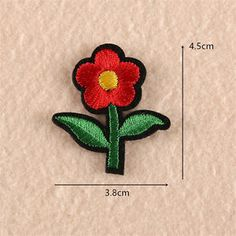 Flower Embroidered Sew Iron On Patch Badge Fabric Clothes Applique Transfer Trim Badge, Clothing Patches, Iron On Patches, Embroidered Flowers, Applique, Brooch, Collection, Sewing, Fabric