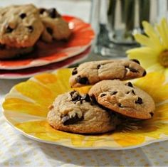 Best Butter-less Chocolate Chip Cookies. Can't wait to make these for the hubby!