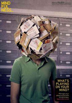 stress creative print ad