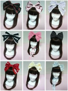 large bows | Angelic Pretty large bow on top of head. Sweet Lolita girly fashion ...